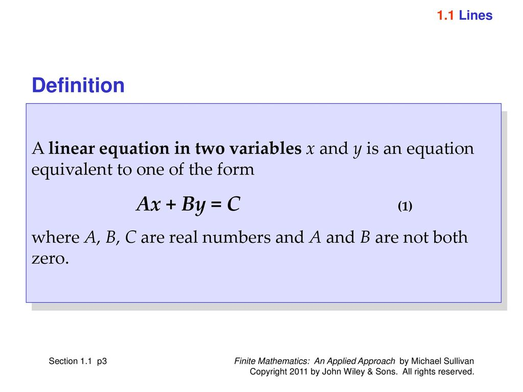 Equivalent Equations Definition