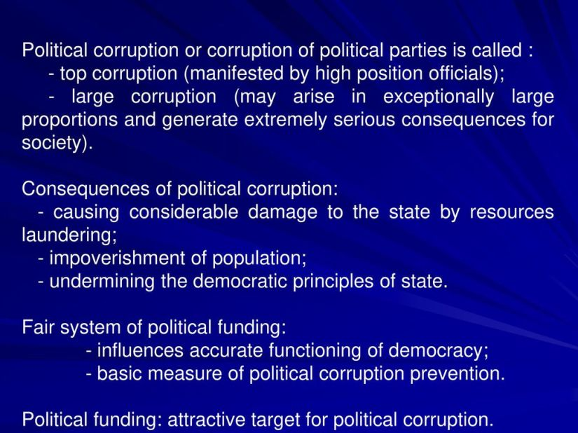 Image result for political funding corruption