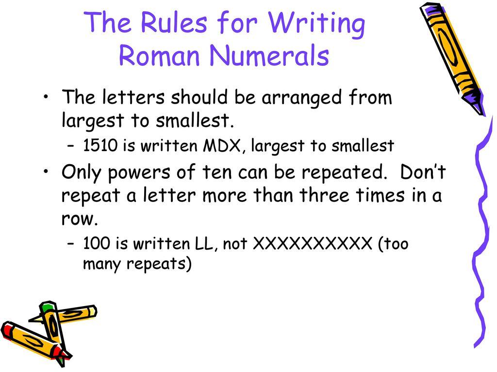 Roman Numerals Worksheet Student