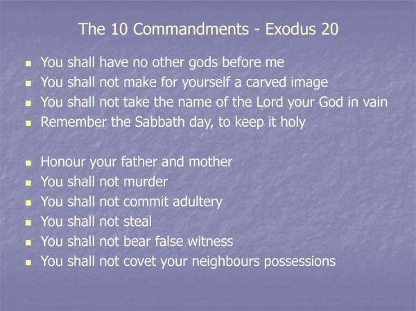 10 commandments of god # 57