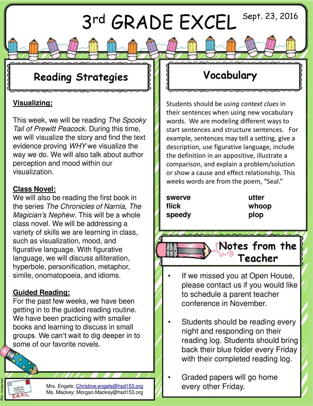 3rd Grade Reading Worksheet Vocabulary