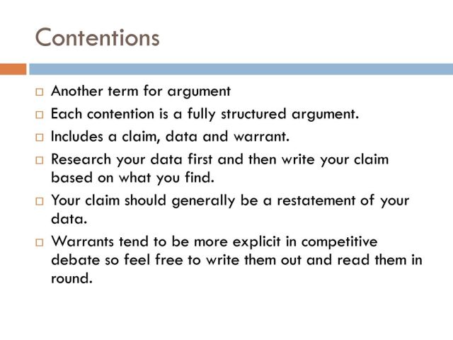 Basic Case Writing Objective: Students will write an affirmative