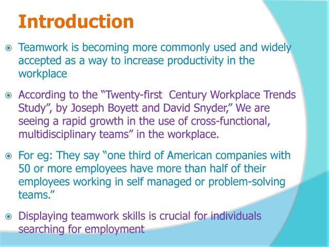 Skills needed for teamwork - ppt download