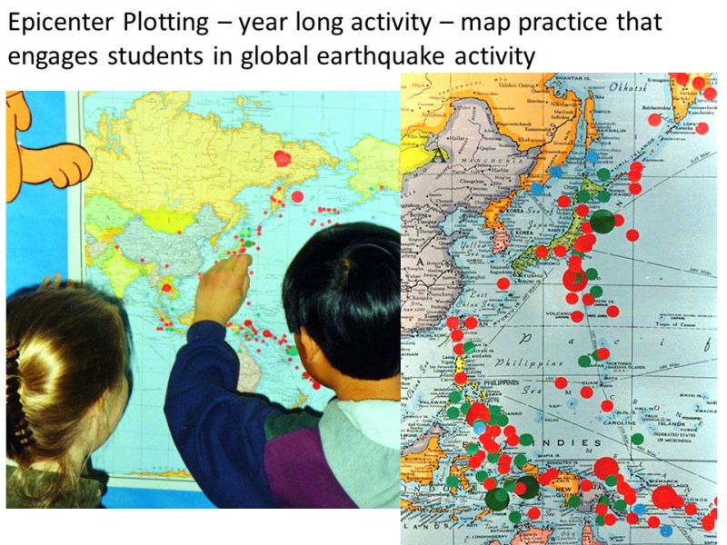 Where did our waves come from    ppt download 18 Epicenter Plotting     year long activity     map practice that engages  students in global earthquake activity