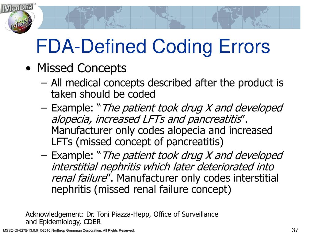 Examples Of Medical Coding Errors