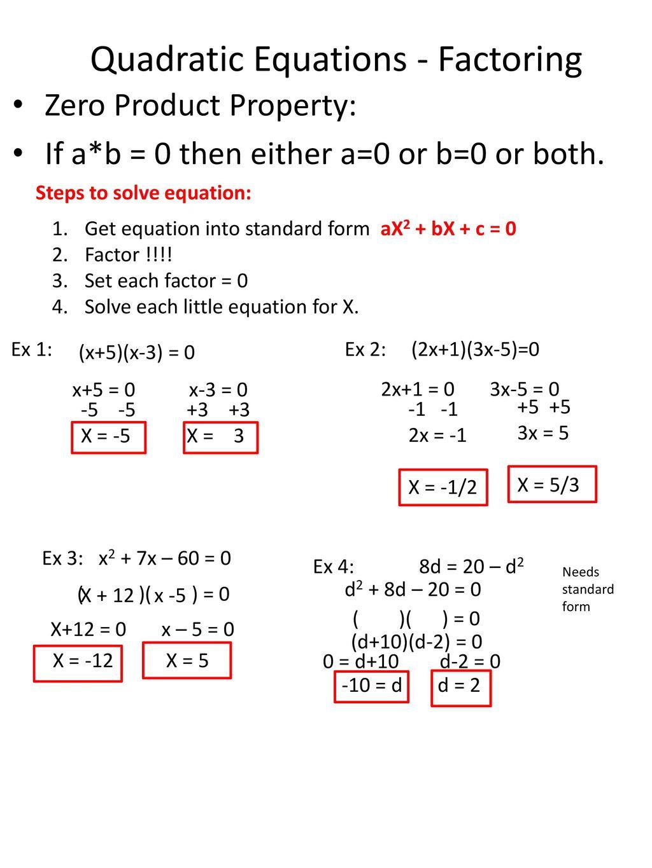 Unit 4 Solving Quadratic Equations
