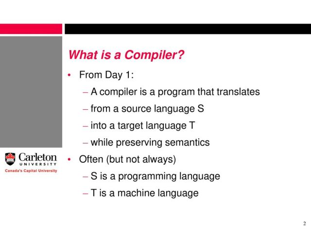 Want to Write a Compiler? - ppt download