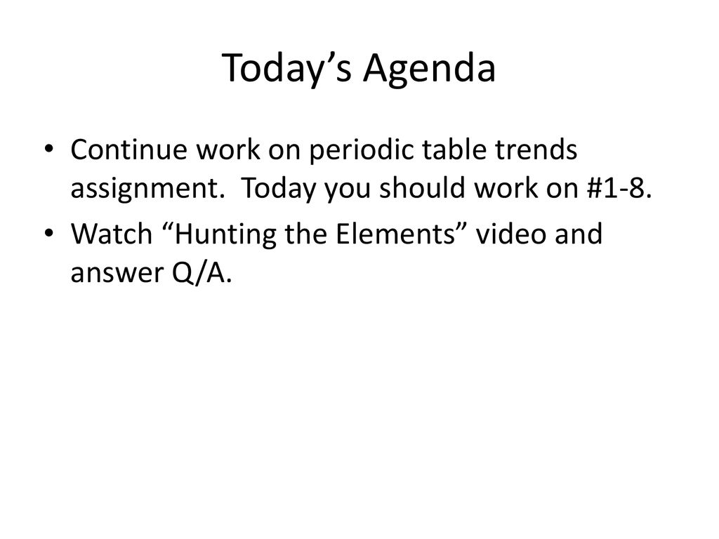 Nova Video Questions Hunting The Elements Worksheet