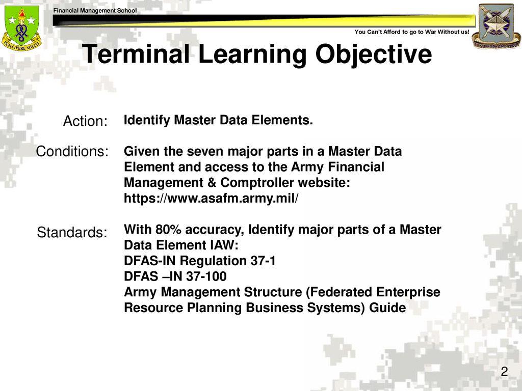 Identify Master Data Elements