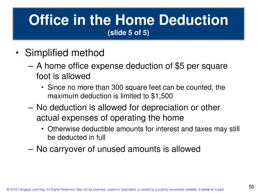 Home Office Expenses Deduction