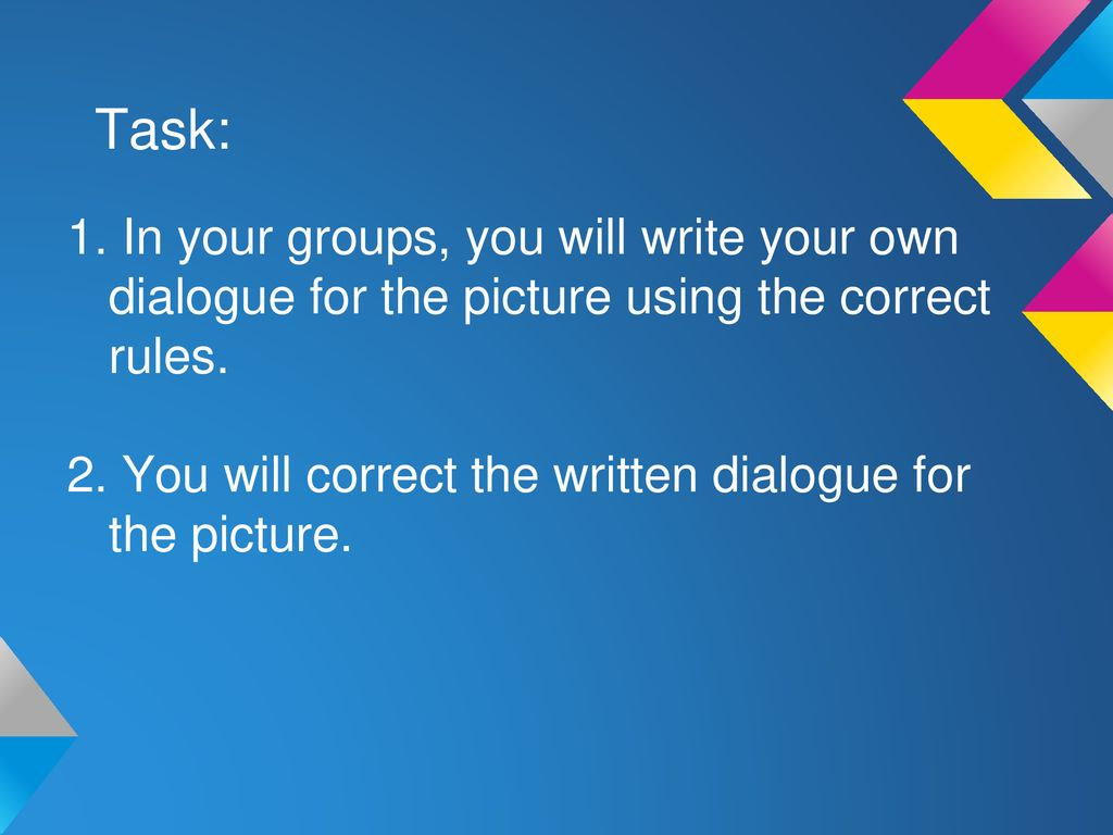 Correct Way To Write Dialogue Rules Of Writing How To