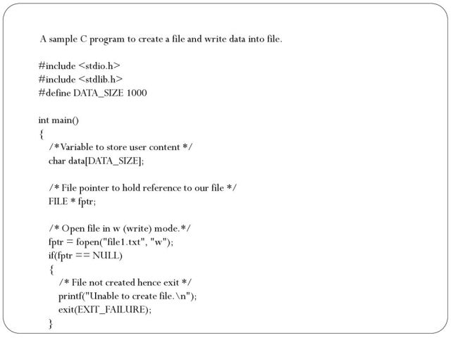 CSE21 Files in C Dr. Sajib Datta - ppt download