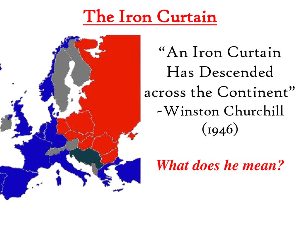 Iron Curtain What Does This Mean