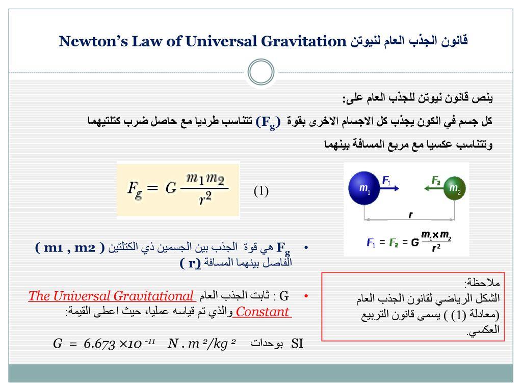 Worksheet Universal Law Of Gravitation