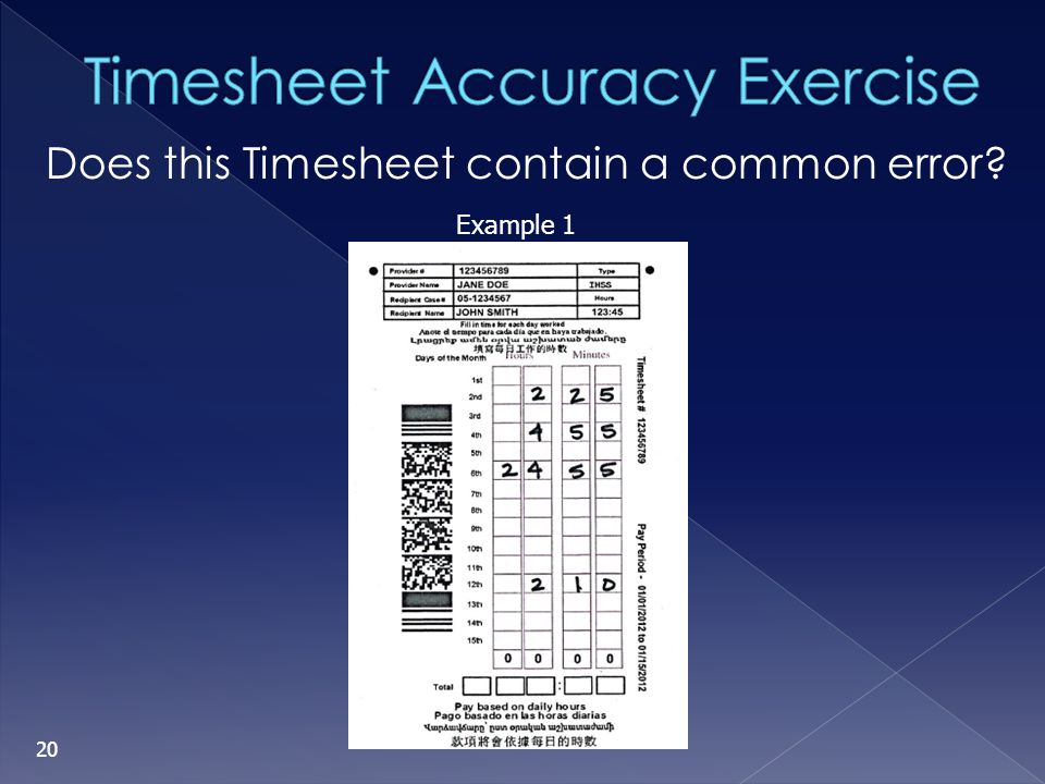 Timesheet Processing and   ppt video online download 20 Timesheet Accuracy Exercise