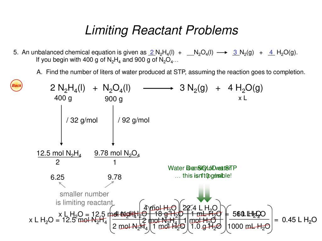 Limiting Reactants Worksheet 3 45 Moles Of Nitrogen