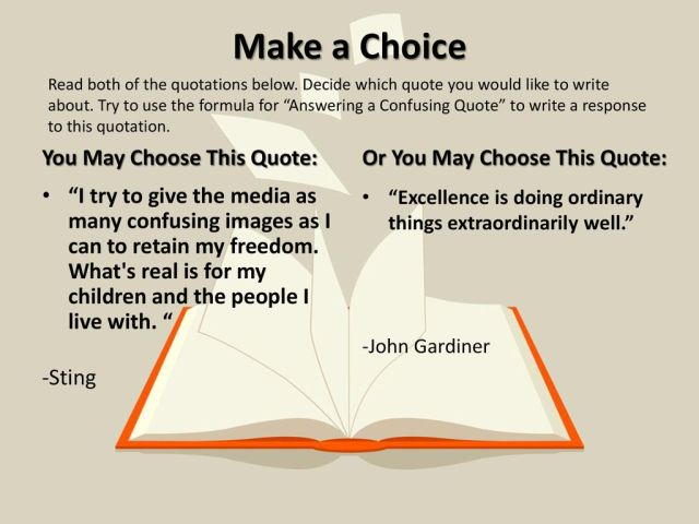 The Writing Prompt: Writing About a Quote - ppt download