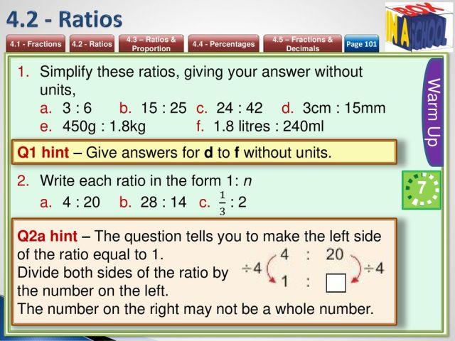 Unit 28 – Fractions, Ratios & Percentages - ppt download