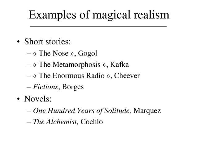 Magic(al) Realism Definition Origin Functions Reading Agreement