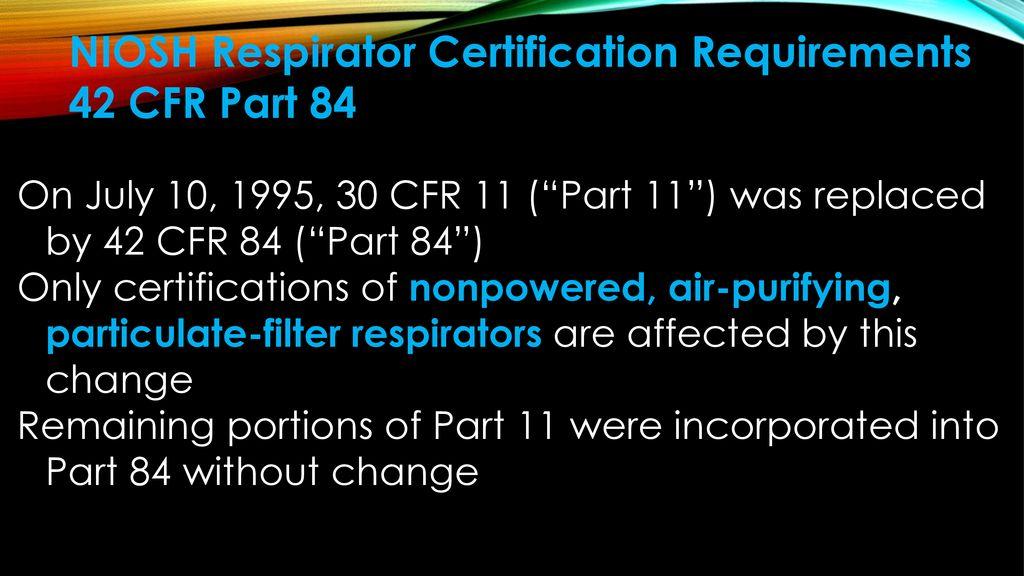 Respirator Program Written By Ralph Hall Ppt Download