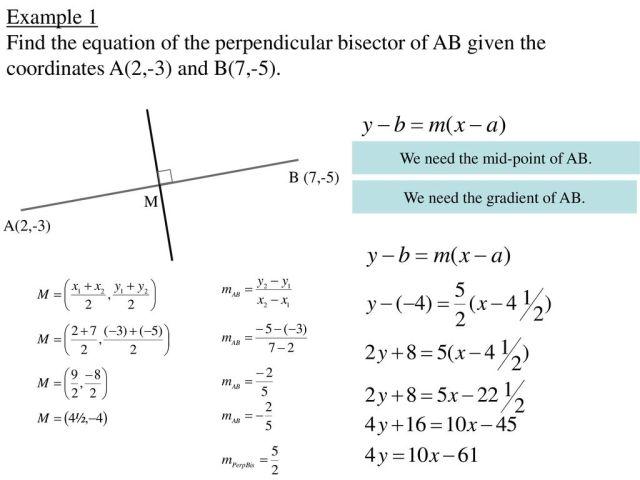 Perpendicular Bisectors - ppt download