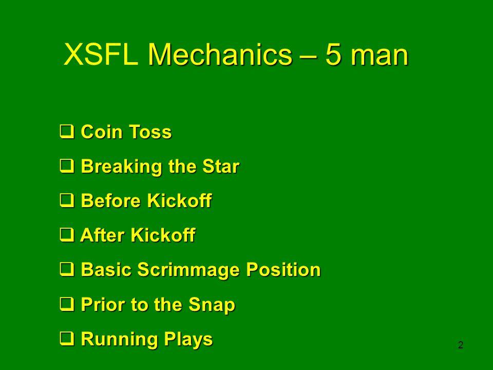 Five Man Football Mechanics