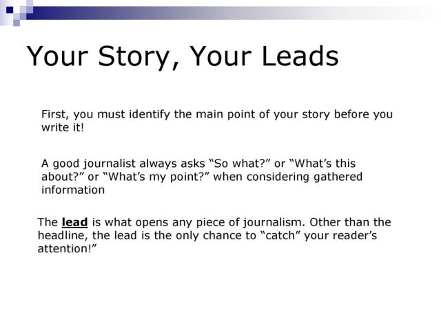 A introductory course in news writing - ppt download