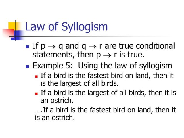 Law of Detachment Law of Syllogism - ppt download