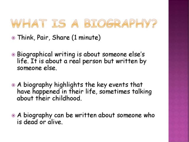 Writing a Biography. - ppt download