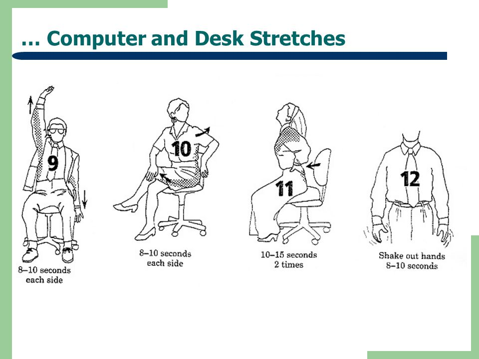 Ergonomic Exercises Computer Users