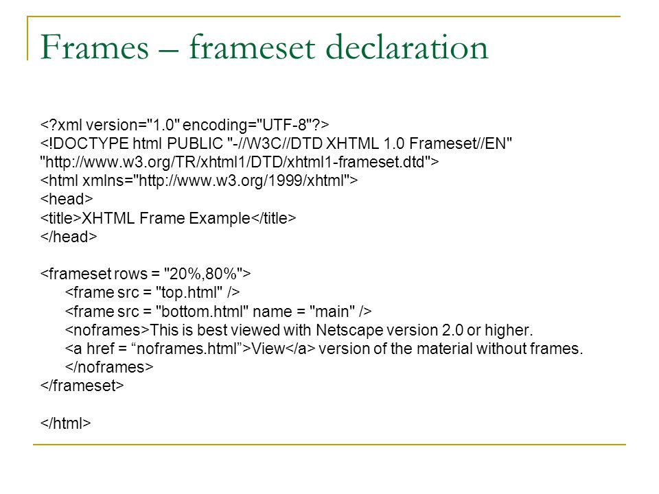 Frame Src In Html Example | Siteframes.co