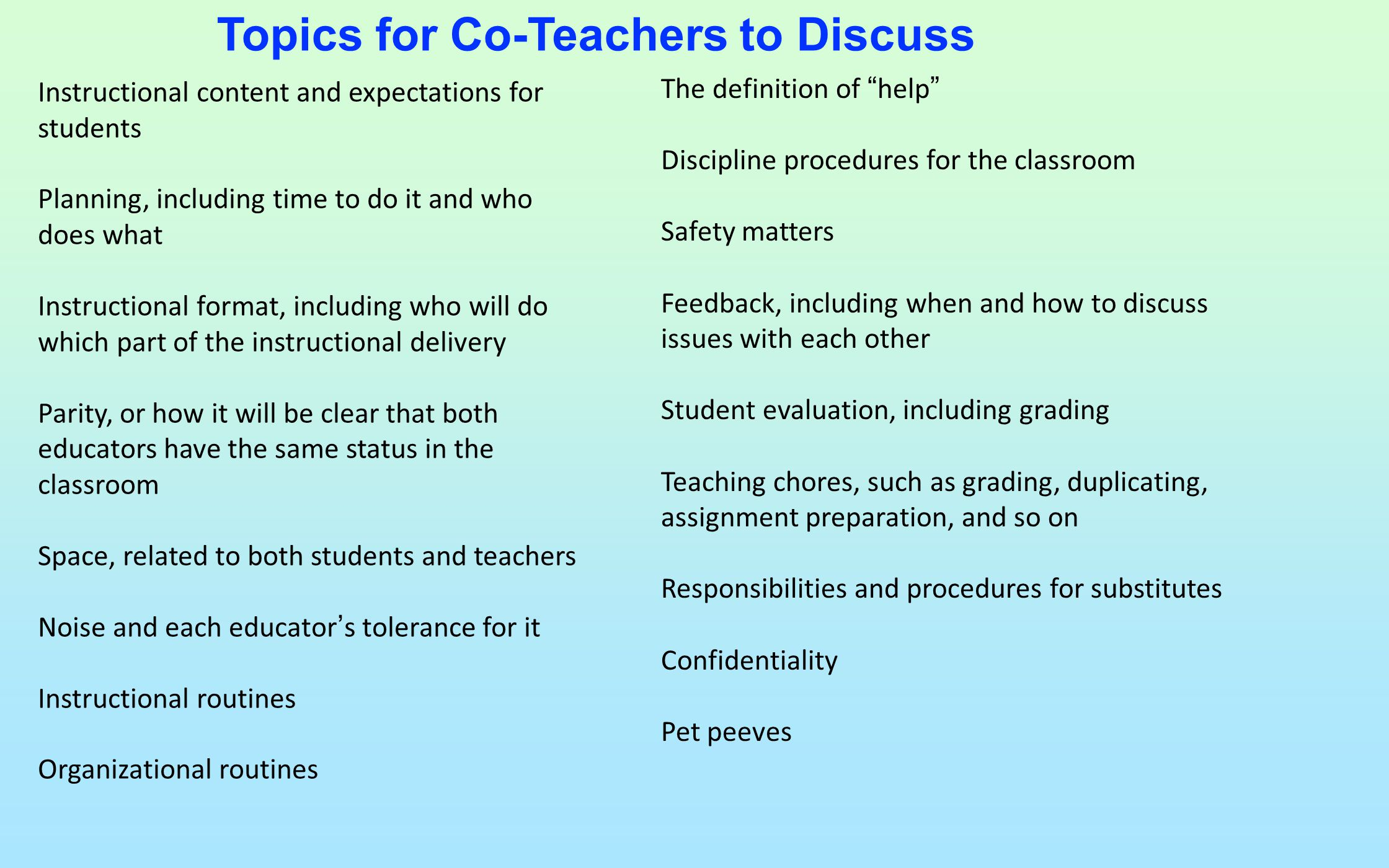Co Teaching Is What We Are Doing Good For The Both Of Us