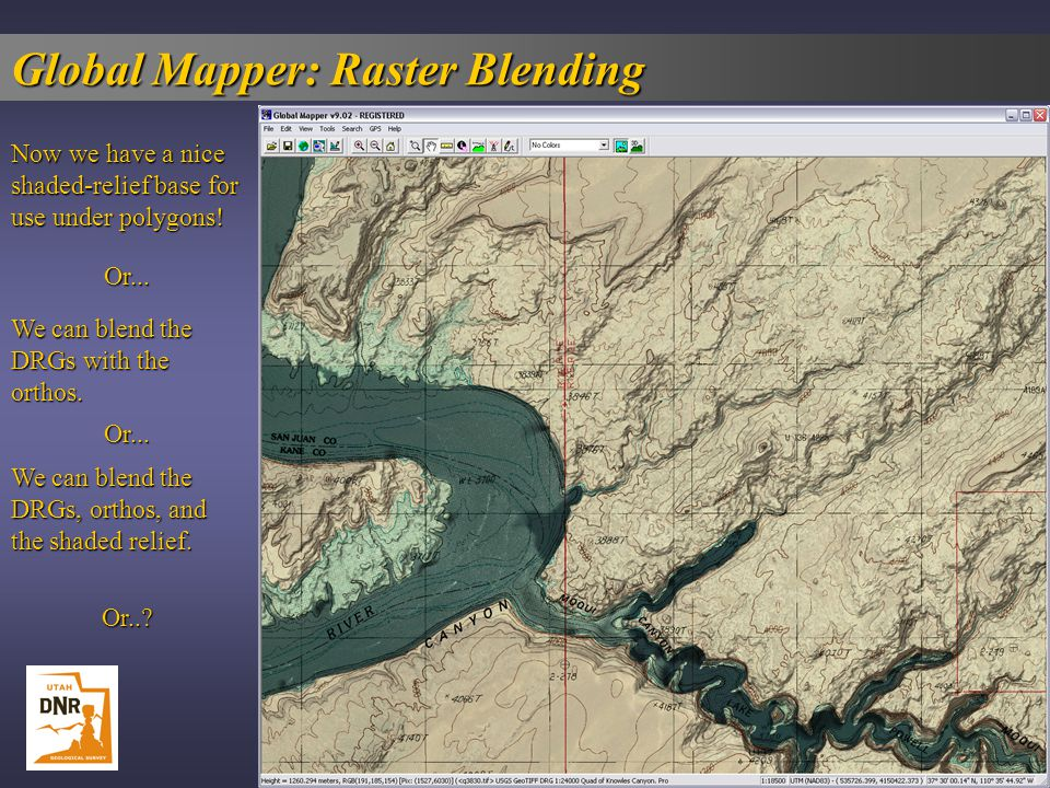 Global Mapper  The Swiss Army Knife For GIS    ppt download Global Mapper  Raster Blending