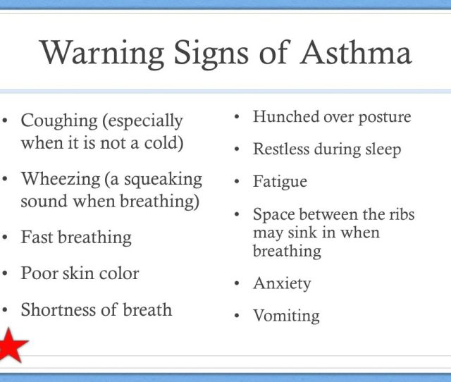 Warning Signs Of Asthma