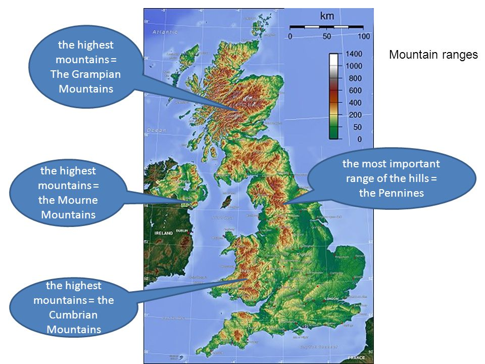 Map Of Uk Mountains And Rivers.Rivers And Uk Cities Map