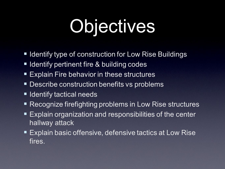 Low Rise Occupancies Center Hallway