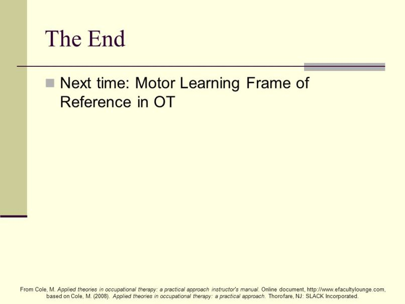 Frames Of Reference In Occupational Therapy Learning Disabilities ...
