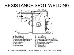 Resistance spot welding defects ppt