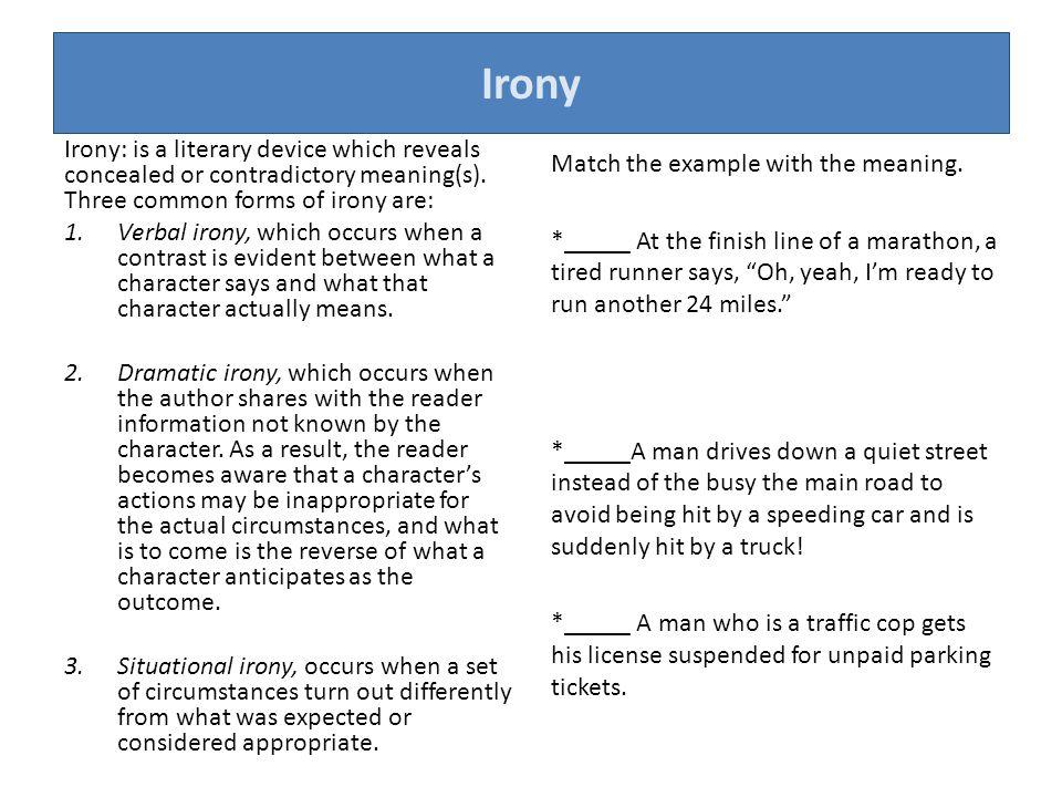 verbal irony definition literature