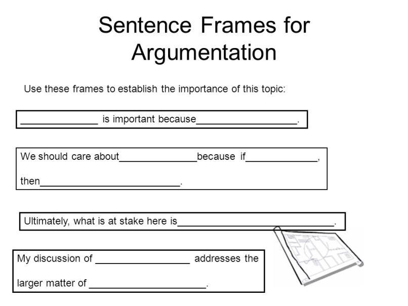 sentence frames for argument writing   Allframes5.org