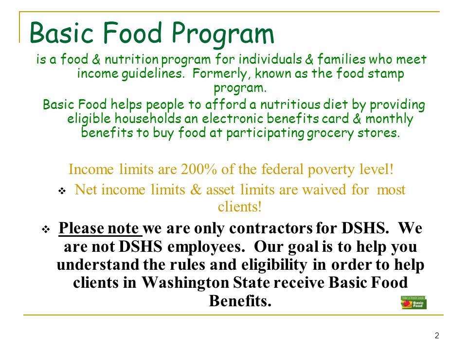 Food Stamp Income Eligibility Chart