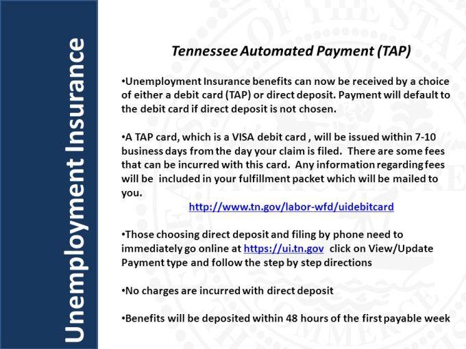 Tn Unemployment Debit Card Number Letternew