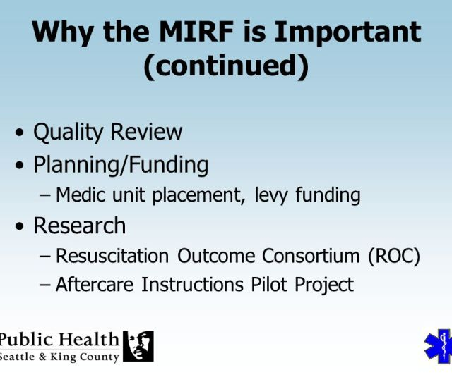 Why The Mirf Is Important Continued
