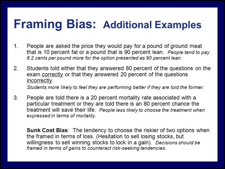 Framing Bias In Decision Making Example | Framejdi.org