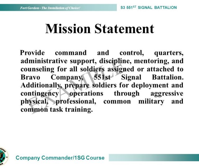 41 Example Mission Statement