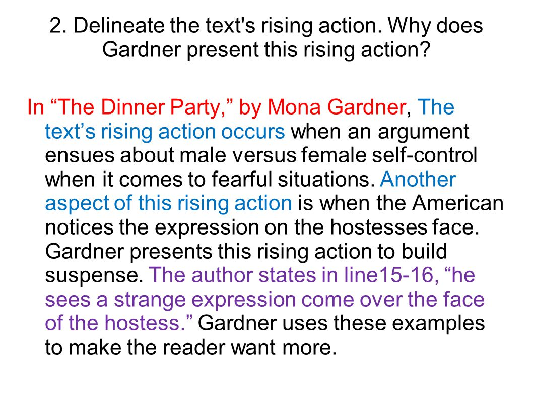 The Dinner Party By Mona Gardner Questions Short Story The Dinner Party Worksheets 02 08