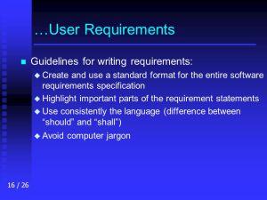 CS 425625 Software Engineering Software Requirements  ppt video online download