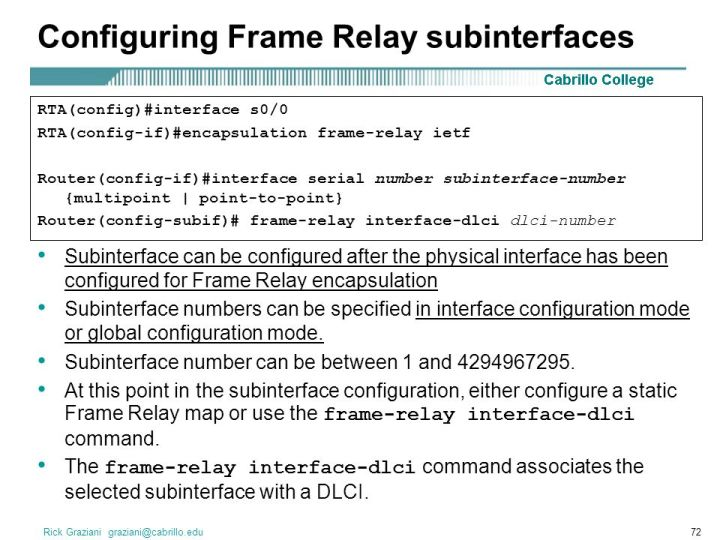Configuring Frame Relay Point To Subinterfaces | Framess.co