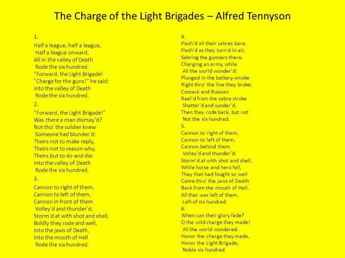 Charge Of The Light Brigade Poem Analysis Bbc Bitesize   Adiklight co