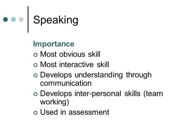 Speaking skills